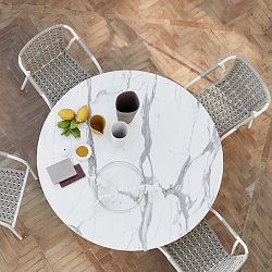 Capri Round Dining Table and Chair Collection