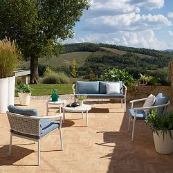 Lipari Sofa and Chair Collection in White