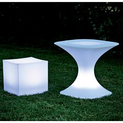 Serralunga Lighted Lounge Cube and Milo Table
