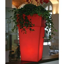 Good Torre Lighted Indoor Outdoor Planter