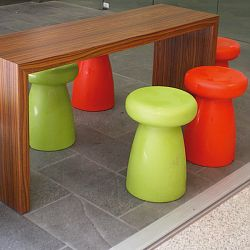 Serralunga Porcino Indoor-Outdoor Stool by Designer Aldo Cibic