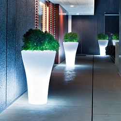 Serralunga Ming Lighted Indoor-Outdoor Planter by Designer Rodolfo Dordoni
