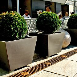 Serralunga Kabin Low Profile Indoor-Outdoor Planter by Designer Luisa Bocchietto