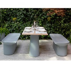 Serralunga Lou Lou Dining Table and Luba Bench