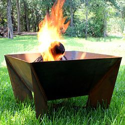 The DeZen Weathering Steel Outdoor Fire Pit