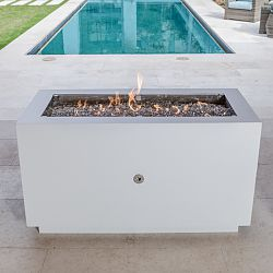 Rectangular Powder Coated Hidden Tank Fire Pit