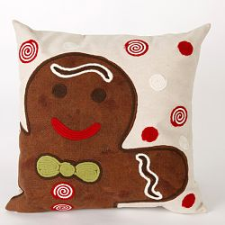 Ginger Boy Chocolate Outdoor Pillow