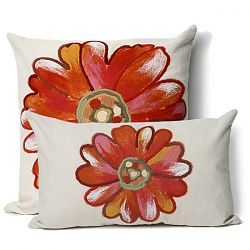 Daisy Orange Pillow