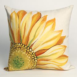 Sunflower Yellow Outdoor Pillow
