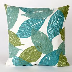 Mystic Leaf Aqua Pillow