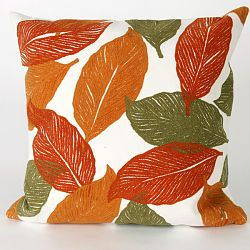 Mystic Leaf Orange Pillow