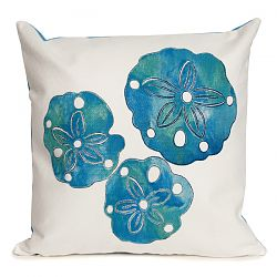 Sand Dollar Pearl Outdoor Pillow