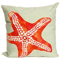 Starfish Seafoam Outdoor Pillow