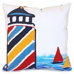 Lighthouse Multi Outdoor Pillow