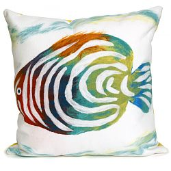 Rainbow Fish Pearl Outdoor Pillow
