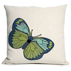 Butterfly Green Outdoor Pillow