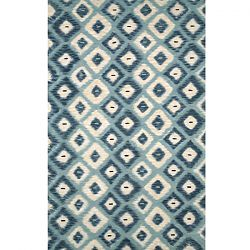 Ikat Diamonds Aqua Rug