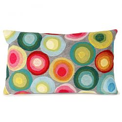 Puddle Dot Multi Outdoor Pillow