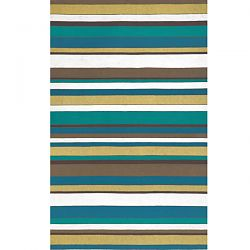 Coastal Stripe Summer Outdoor Rug