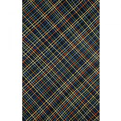 Mad Plaid Navy Outdoor Rug