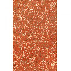 Ombre Squiggles Spice Outdoor Rug