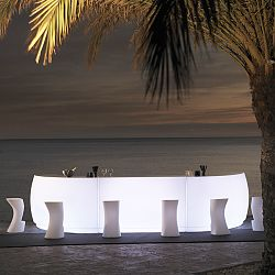 Illuminated Fiesta Outdoor Bar and Stools