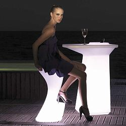 Moma Illuminated Outdoor Bar Table and Stools