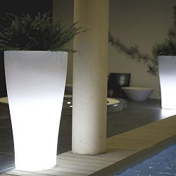 Illuminated Curved Outdoor Planter