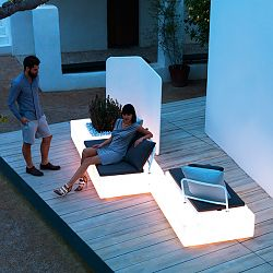 Kes Illuminated Sectional Sofa
