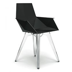 Faz Dining Chair with Clear Legs