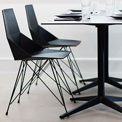 Faz Dining Chair with Steel Legs