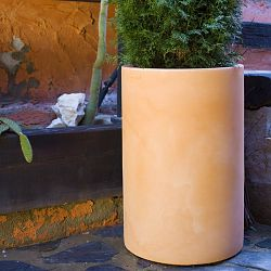 Tall Cylindrical Indoor-Outdoor Planter