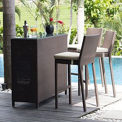 Pacific Bar Table and Stool Set
