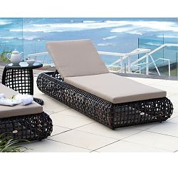 Dynasty Chaise in Black Wicker