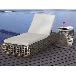 Dynasty Chaise in Grey Wicker