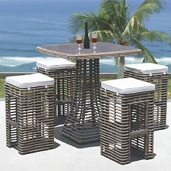 Skyline Design Dynasty Bar Table and Stools