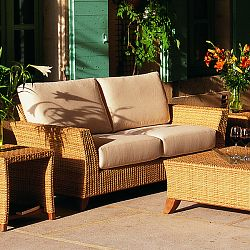Rausch Outdoor Wicker Palm Beach Loveseat