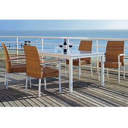 Rausch Aluminum 62'' Square Outdoor Dining Furniture Table