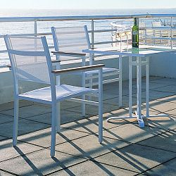 Rausch Furniture Rausch Aluminum Long Beach Outdoor Bistro Table