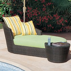 Rausch Eden Roc Wicker Divan Chaise Lounge