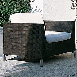 Rausch Cubic Bay Outdoor Wicker Lounge Chair