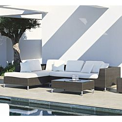 Rausch Cubic Bay Outdoor Wicker Sectional Sofa