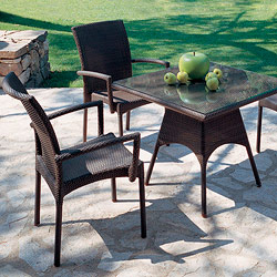 Rausch Outdoor Beach Club Wicker Bistro Table and Chairs