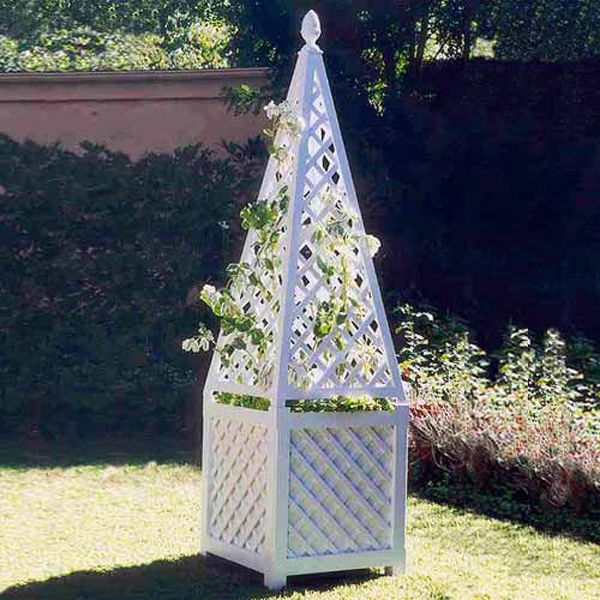 Obelisk Garden Trellis And Planter At