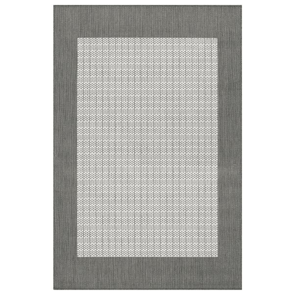 Checked Black Grey Rug: Checkered Grey Outdoor Rugs