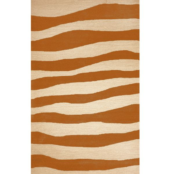 Chic Indoor Outdoor Stripe Rugs 6 Colors Available: Wavy Stripe Orange, Outdoor Rugs, Rug, Area, Outside