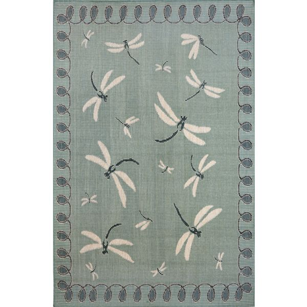 Dragonfly Aqua Outdoor Rugs Rug Area Outside Home