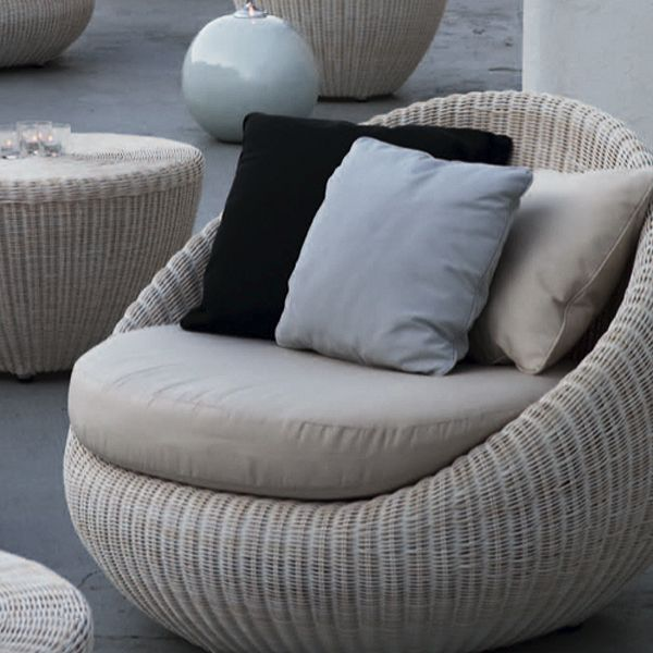Point Bubble Chair Modern Outdoor Wicker Patio Lounge