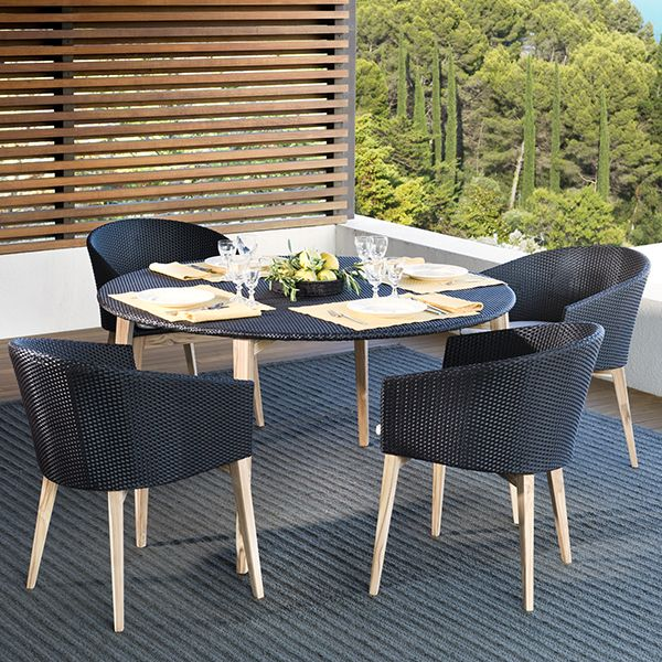 Point Arc Outdoor Dining Table chair patio wicker - HomeInfatuation.com. & Point Arc Outdoor Dining Table chair patio wicker ...