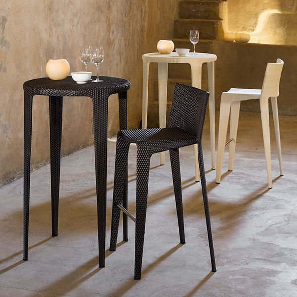 Point U Bar Stool Outdoor Height Table Wicker